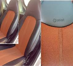 siege smart roadster mix leatherette two tone synthetic fishnet seat covers fits smart