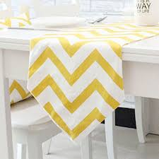 zig zag table runner amazon com chevron zig zag cotton linen canvas white printed table
