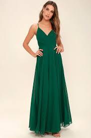 lovely dark green dress maxi dress gown bridesmaid dress