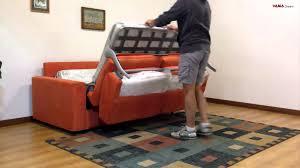 trasformare un letto in un divano divano letto matrimoniale in microfibra arancione