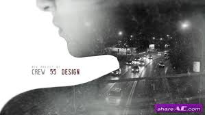 videohive double exposure movie intro after effects templates