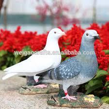 size pigeon garden ornaments pigeon white gray dove ornament