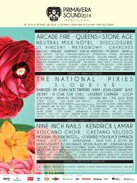 Lights All Night 2014 Lineup Primavera Sound 2014 Lineup Stereogum