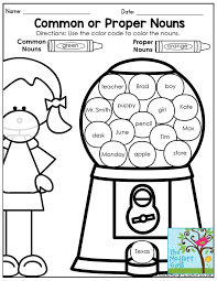 bunch ideas of teaching proper and common nouns to first graders