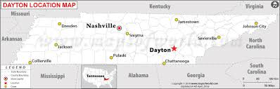 dayton map where is dayton tennessee