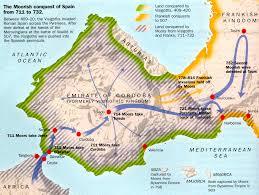Cordoba Spain Map by Moors Take Iberian Peninsula 711 732 Black History Human