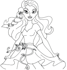 free printable super hero high coloring pages poison ivy super