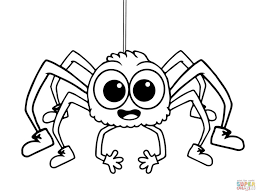 spider coloring pages printable sketch template in spider coloring