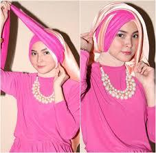 tutorial hijab pesta 2 kerudung tutorial hijab kreasi turban dengan 2 scarf panjang untuk ke pesta