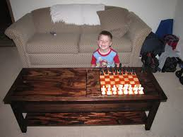 ana white mom u0027s lego table with chess board diy projects