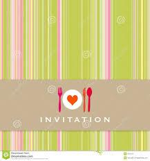 dinner invitation dinner invitation with utensil silhouette royalty free stock
