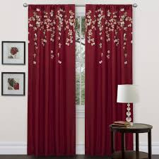 red bedroom curtains and drapes for modern living room design with