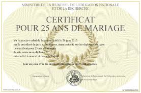 26 ans de mariage certificat pour 25 ans de mariage