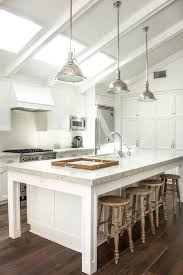 vaulted kitchen ceiling with skylights cottage kitchen