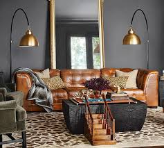 Pottery Barn Leather Couches 11 Best Cognac U0026 Grey Images On Pinterest Brown Couch Brown