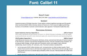 What Is The Best Font For Resumes by Best Font For Resume Calibri