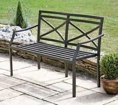 Steel Garden Bench Outdoor Metal Benches Benched Pinterest Bench Metals And