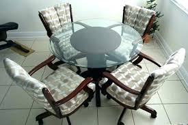 rolling dining room chairs kitchen chair casters kitchen casual dining cushion swivel and