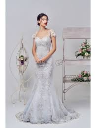 silver wedding dress gowns 16327 silver lace bridal gown