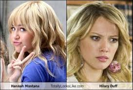 Hannah Montana Memes - hannah montana totally looks like hilary duff cheezburger