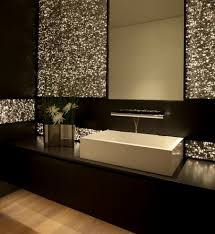 Powder Room Vanities Contemporary Good Looking Black Bathroom Vanity Image Ideas With White Tile