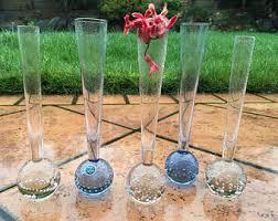 Single Stem Glass Vase Bubble Bud Vase Etsy
