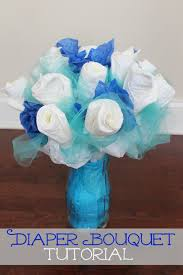 how to make a diaper bouquet picture tutorial frugal fanatic