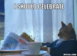 Celebration Meme - cat celebration cscs study questions
