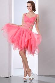 exposed waist pink cocktail party dress for
