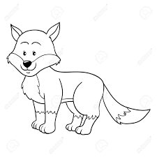 coloring book fox royalty free cliparts vectors and stock