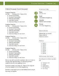free cv templates 987 to 994 u2013 free cv template dot org