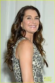 brooke shields wears leopard print to fragrance luncheon photo