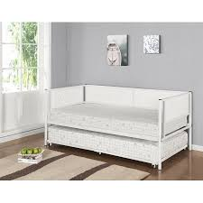 Daybed With Headboard by Twin White Upholstered Faux Leather Metal Day Bed Frame With Roll