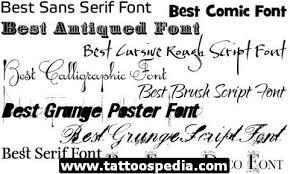 tattoo fonts for men 2015