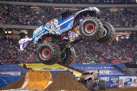 monster trucks grave digger crashes monster jam brings monster trucks to nrg stadium just a week after
