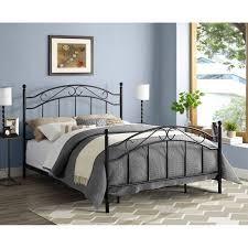 mainstays queen metal bed black walmart com intended for frame