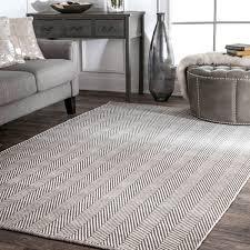 Flat Weave Cotton Area Rugs Nuloom Handmade Flatweave Herringbone Chevron Cotton Rug 8 X 10