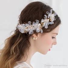 bridal hair accessories uk 2017 new style bridal headband yarn flowers pearls wedding hair