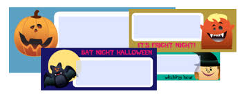 free halloween address labels fillable pdf printables