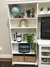 jen gallacher how to style the ikea liatorp bookshelves