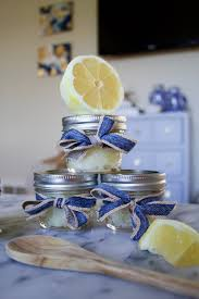 baby shower hostess gifts lemon mint sugar scrub