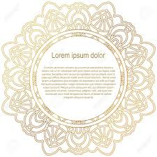 round gold border frame mandala ornament can be used for