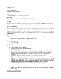 resume cover letter template property manager sidemcicek com