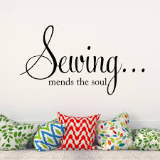 sewing mends the soul vinyl wall decal sewing room decor