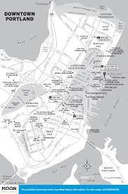 Portland Traffic Map by Printable Travel Maps Of Maine Moon Travel Guides