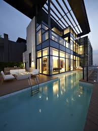 house of pool amazing duplex penthouse in china by kokaistudios