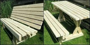 folding picnic table bench plans pdf convertible picnic table bench tiidal co