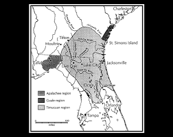 Map Of Deland Florida by Original Inhabitants Native Indians Saint Johns River