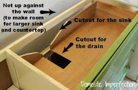 Installing A Vanity Top How To Turn A Dresser Into A Bathroom Vanity Domestic Imperfection