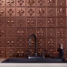 fasade backsplash fleur de lis in oil rubbed bronze